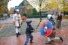 Hier kämpft der sechsjährige Jan Ole Scheuer mit Hauke Haake