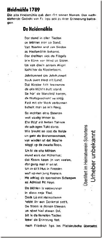 gedicht Heidmühle