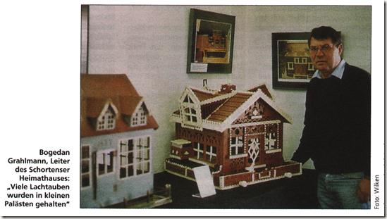 Bogedan Grahlmann bei der Taubenhausausstellung