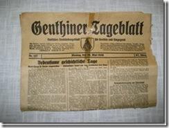 1 Genthiner Tageblatt aus Pommern