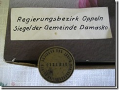 Siegel der Gemeinde Damasko aus Schlesien