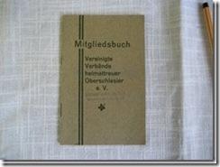 """Mitgliedsbuch """"Schlesierverein"""""""