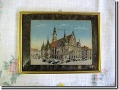 """Perlmuttbild """"Breslau Rathaus"""" aus Schlesien"""