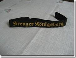"""Mützenband """"Kreuzer Königsberg"""""""