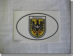 """Aufkleber """"Schlesien"""""""