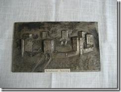 """Zinntafel """"Reichsehrenmal Tannenberg"""" aus Ostpreußen"""