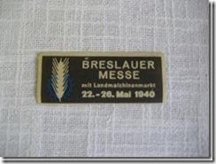 """Abzeichen """"Breslauer Messe"""" aus Schlesien"""