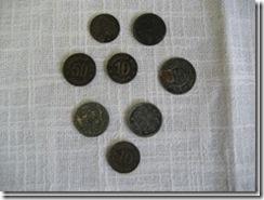 Notgeldmünzen (Gaswertmarken) aus Schlesien