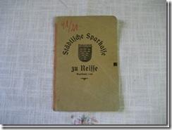 """Sparbuch """"Neisse"""" aus Schlesien"""