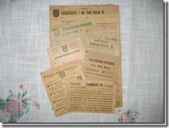 Zuteilungskarten aus Schlesien