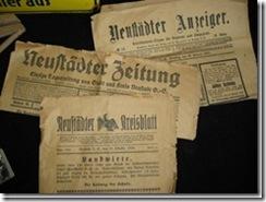 Neustädter Zeitungen aus Schlesien