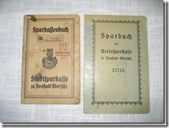 """Sparbücher """"Neustadt"""" aus Schlesien"""