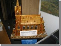 """Kirche """"Arnoldsdorf aus 10000 Streichhölzern aus Schlesien"""